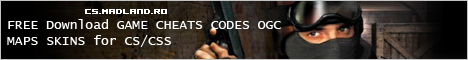 FREE Download GAME CHEATS CODES OGC MAPS SKINS for CS/CSS Banner