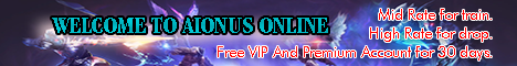 AIONUS ONLINE CLIENT 4.9.1 FULL SUPPORT Banner