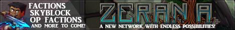 Zerania Network (FREE RANK) Banner
